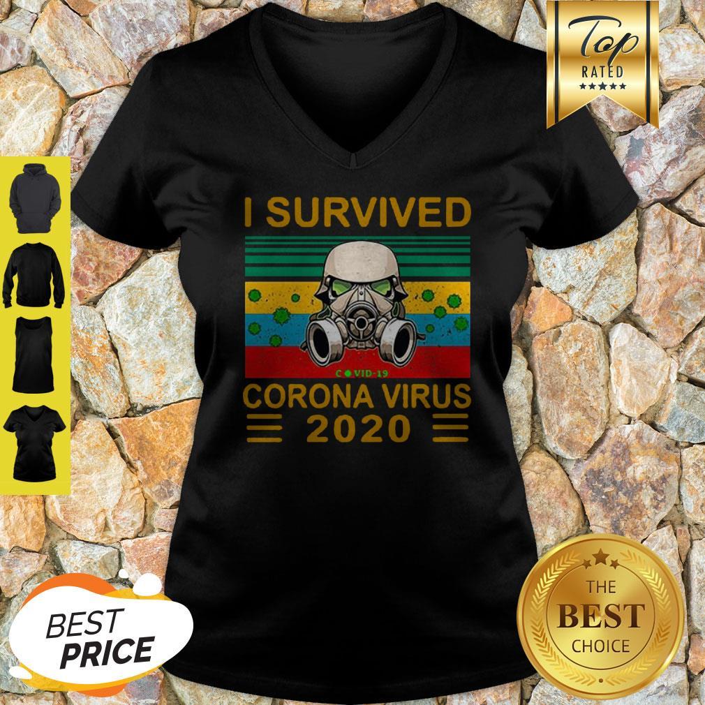 Stormtrooper I Survived Covid-19 2020 Vintage V-neck