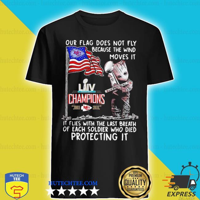 Super bowl champions 2019 baby groot hug kansas city chiefs shirt