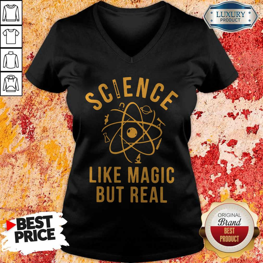 Supper Science Like Magic But Real V-neck