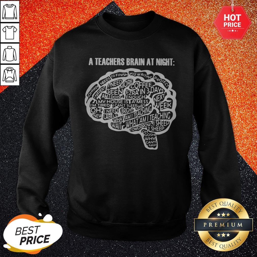 Sweet A Teachers Bbrain At Night Sweatshirt