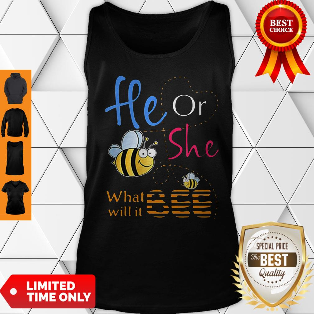 Official He Or She What Will It Bee Gift Tank Top