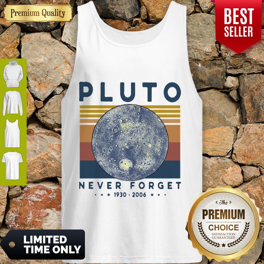 Premium Vintage Pluto Never Forget 1930-2006 Tank Top