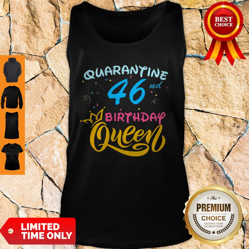 Nice Born In 1978 My 46th Birthday Queen Quarantine Social Distancing Quarantined Birthday 2020 Tank Top