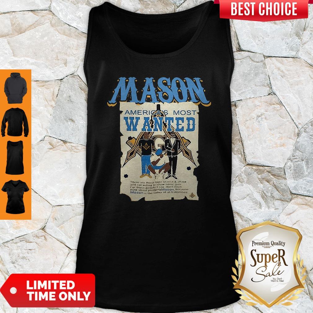 Pretty Masonic Symbols Mason America's Most Wanted Tank Top
