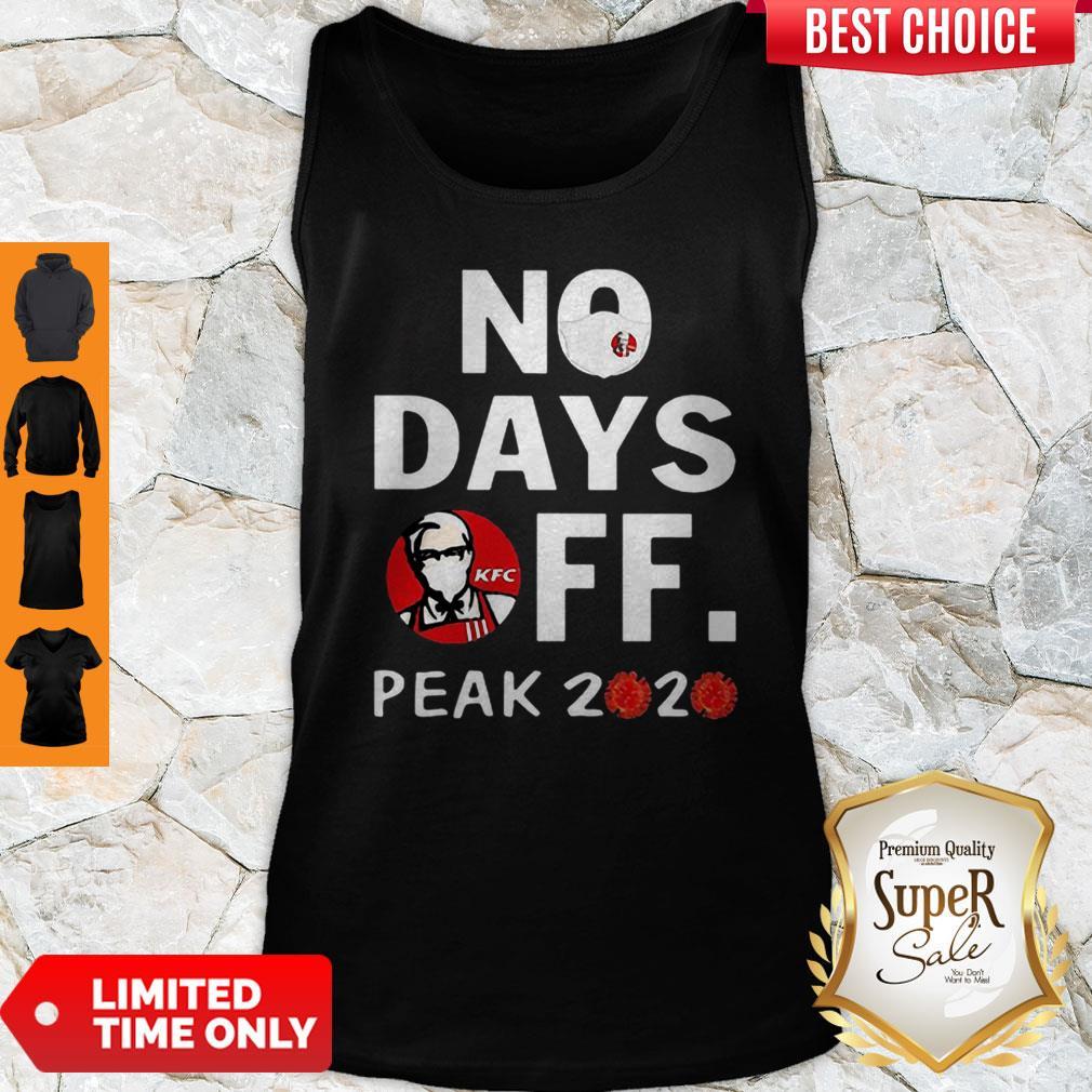Official KFC No Days Off Peak 2020 Coronavirus Tank Top