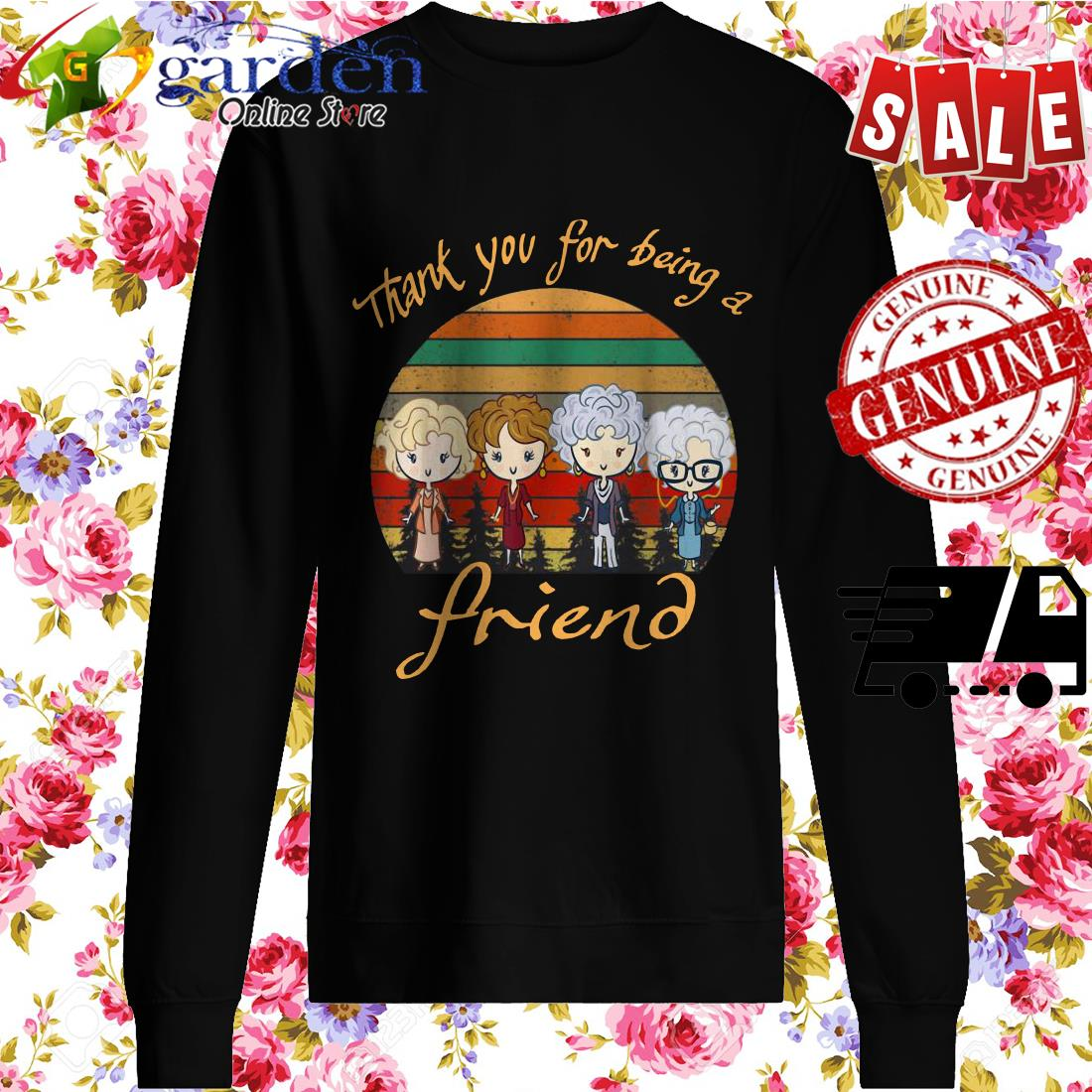 Thank You For Being A Friend The Golden Girls Vintage sweater