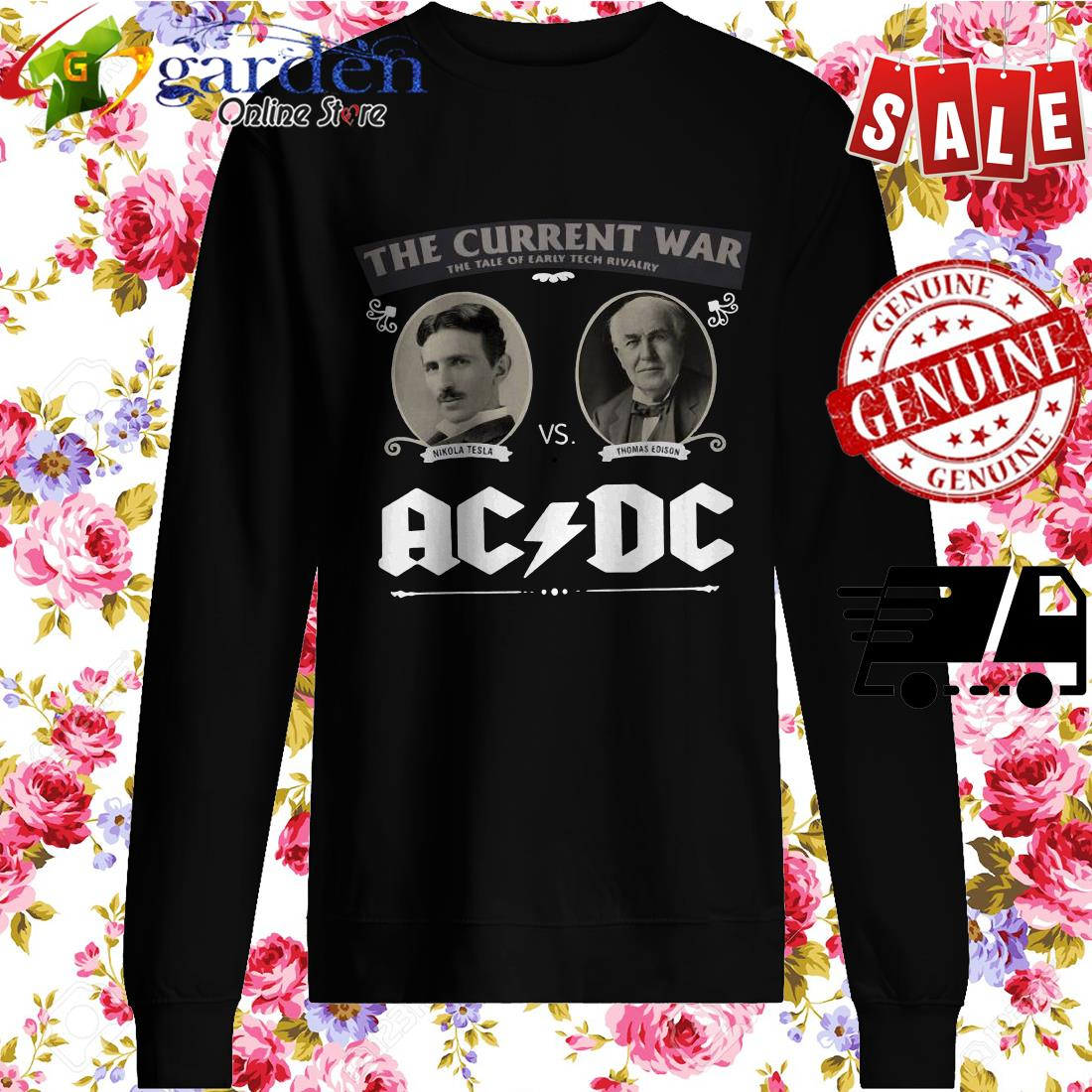 The Current War The Tale Of Early Tech Rivalry Nikola Thomas Edison Ac Dc sweater