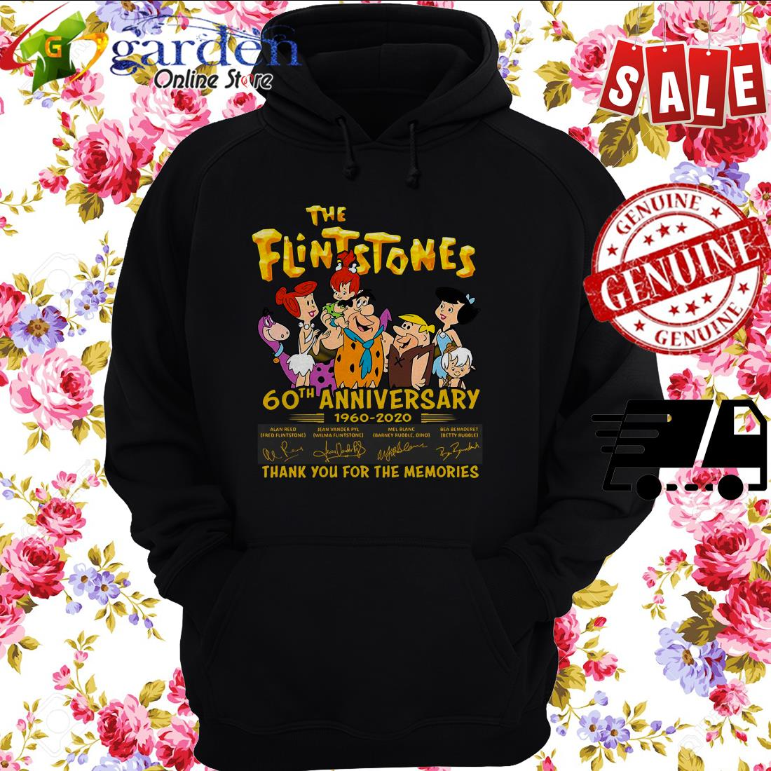 The Flintstones 60th Anniversary 1960 2020 Thank You For The Memories Signature hoodie