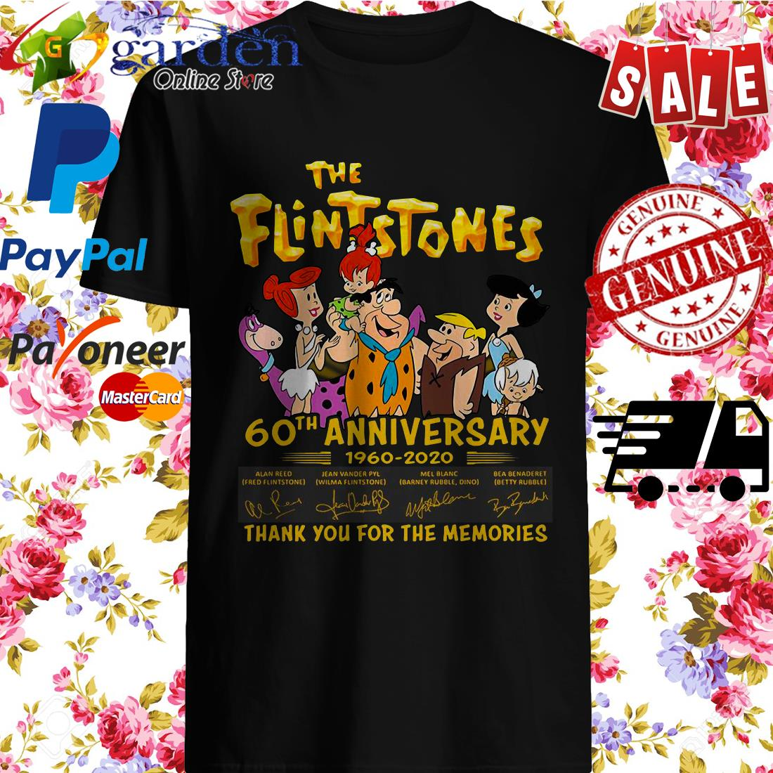 The Flintstones 60th Anniversary 1960 2020 Thank You For The Memories Signature Shirt