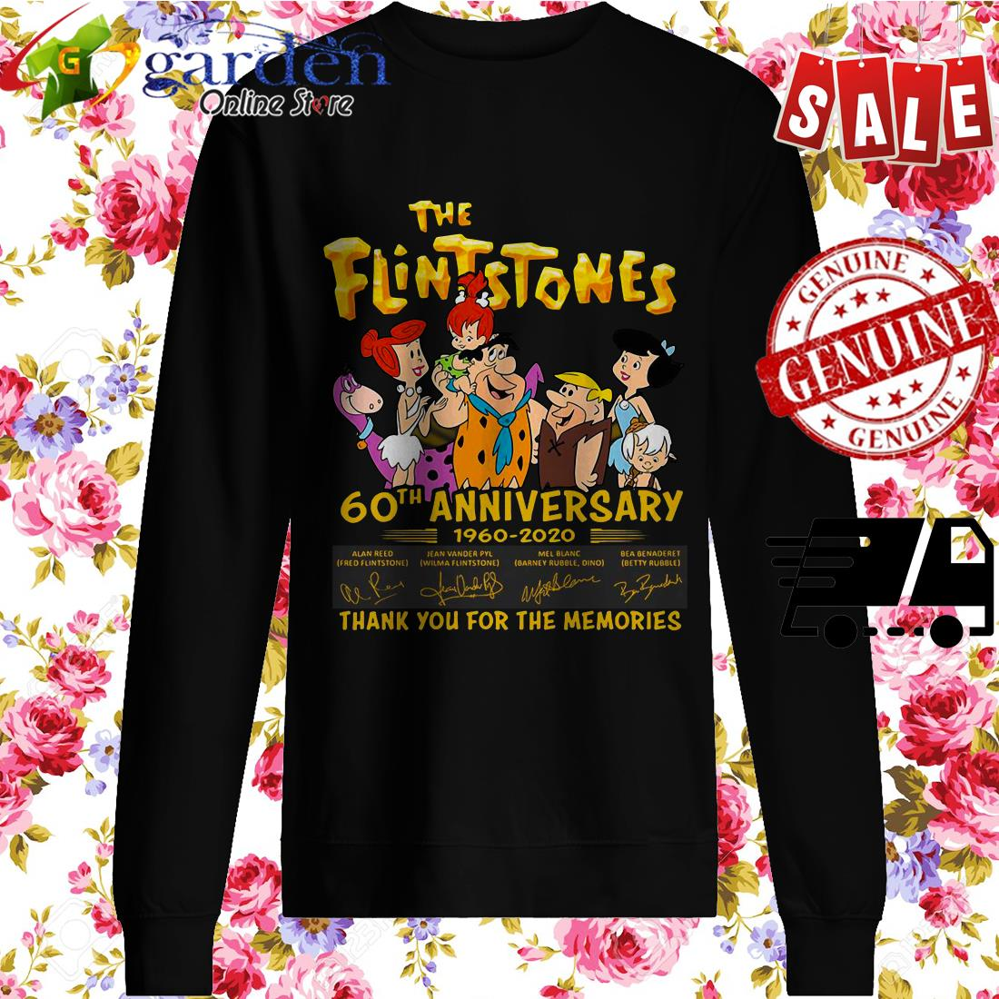 The Flintstones 60th Anniversary 1960 2020 Thank You For The Memories Signature sweater