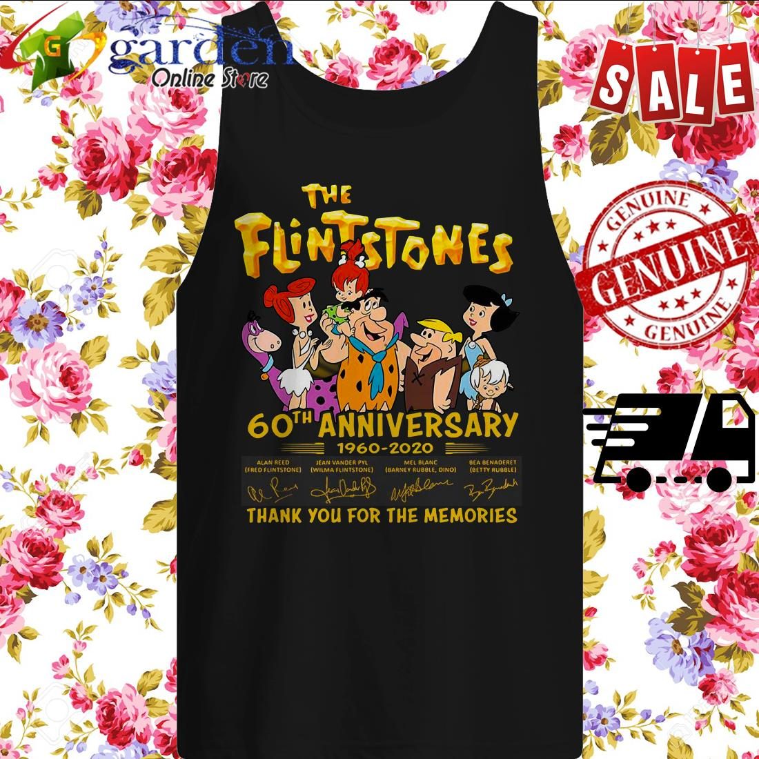 The Flintstones 60th Anniversary 1960 2020 Thank You For The Memories Signature tank top