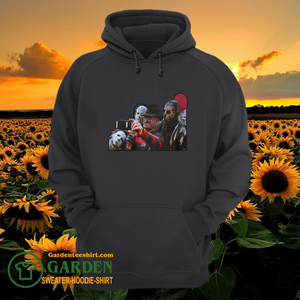 The Horror character take a picture hoodie