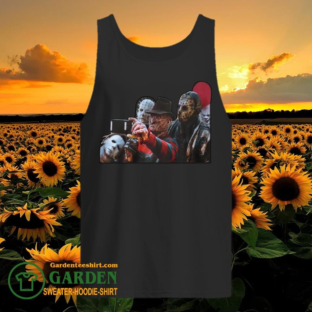 The Horror character take a picture tank top
