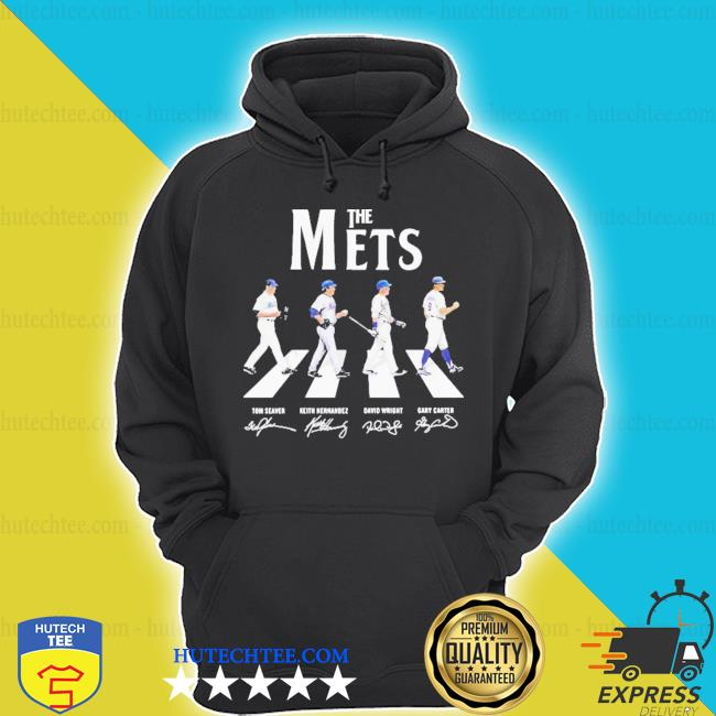 The new york mets baseball abbey road signatures s hoodie
