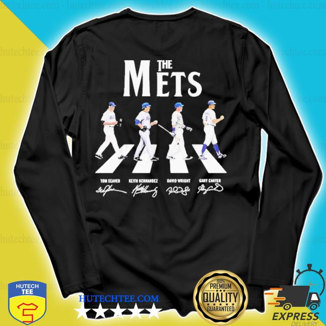 The new york mets baseball abbey road signatures s longsleeve