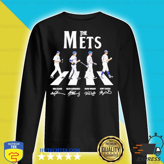 The new york mets baseball abbey road signatures s sweater