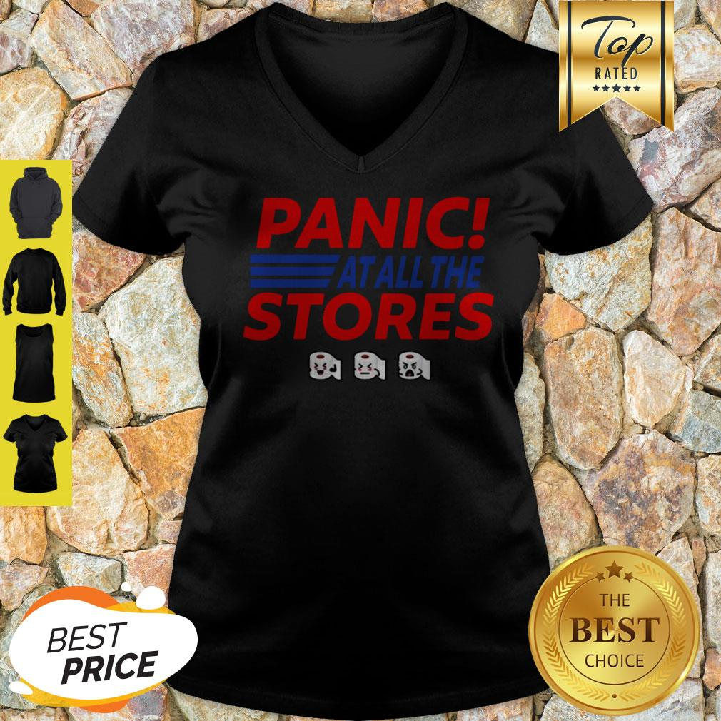 Toilet Paper Panic At All The Stores Covid-19 V-neck