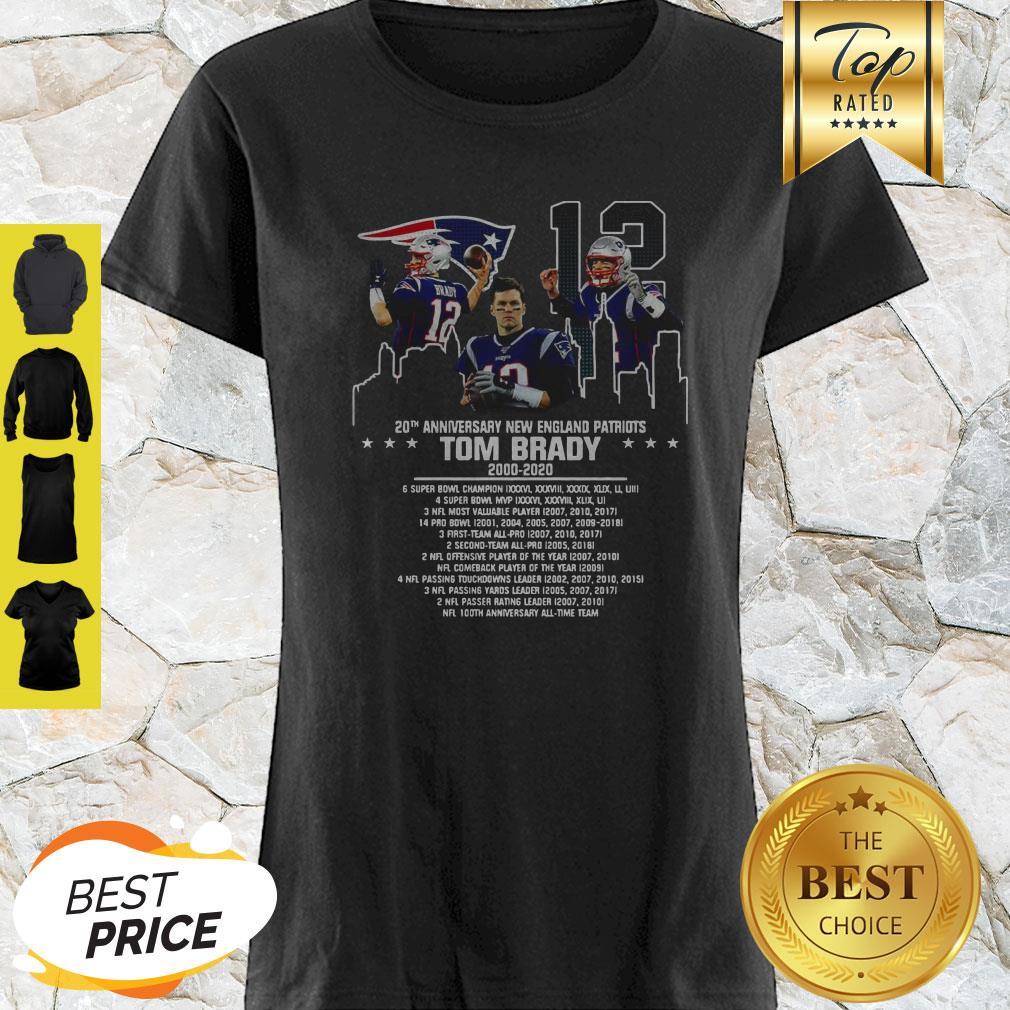 Tom Brady 20th Anniversary New England Patriots Shirt