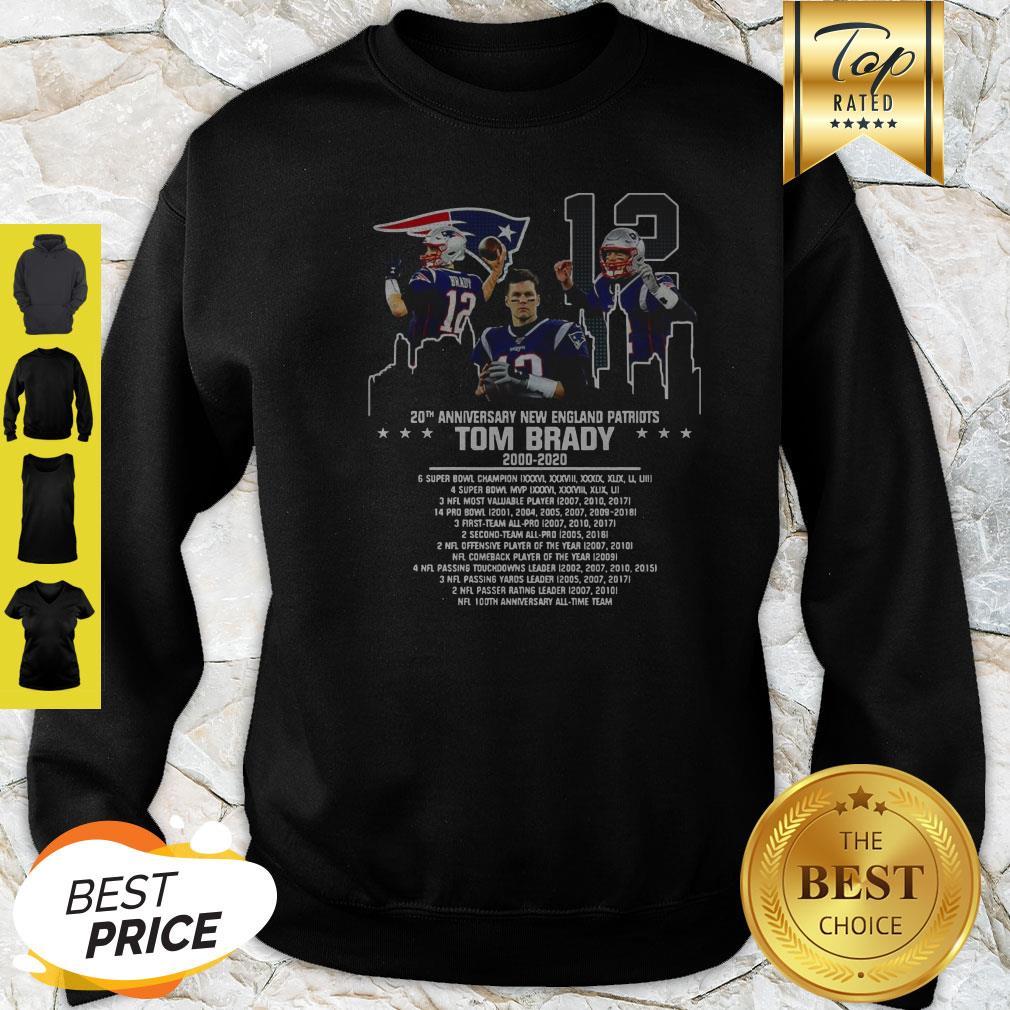 Tom Brady 20th Anniversary New England Patriots Sweatshirt