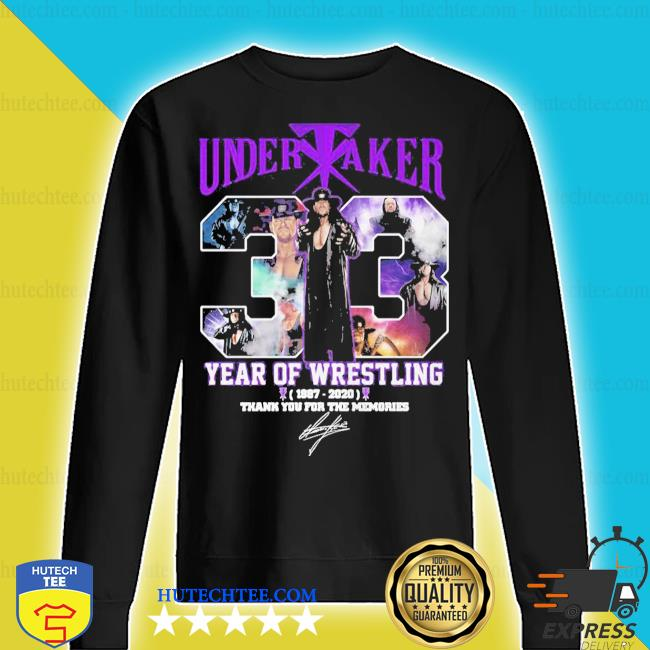 Undertaker 33 years of operation 1987 2020 thank you for the memories signature s sweater