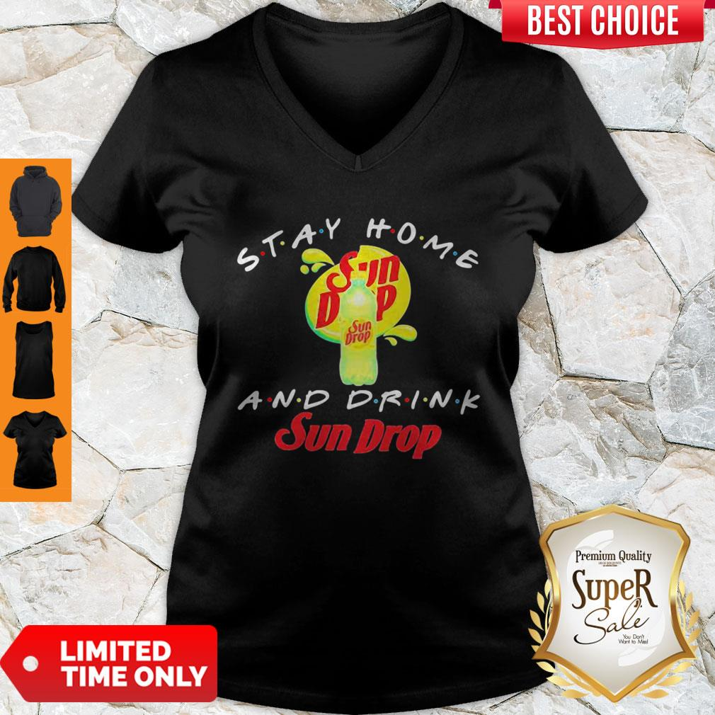 Official Stay Home And Drink Sun Drop V-neck