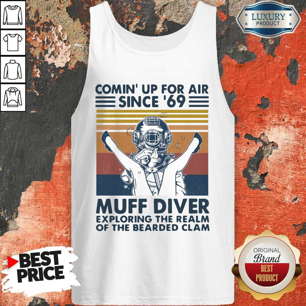 Vip Comin' Up For Air Since' 69 Muff Diver Exploring The Realm Of The Bearded Clam Vintage Tank Top