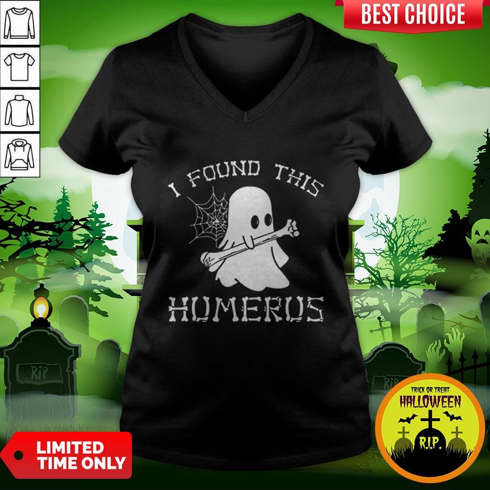 Vip Halloween I Found This Humerus Ghost V-neck