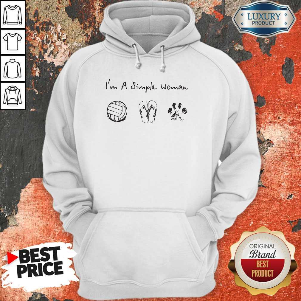 Vip I'm A Simple Woman Volleyball Flip Flop Dog Paw Hoodie