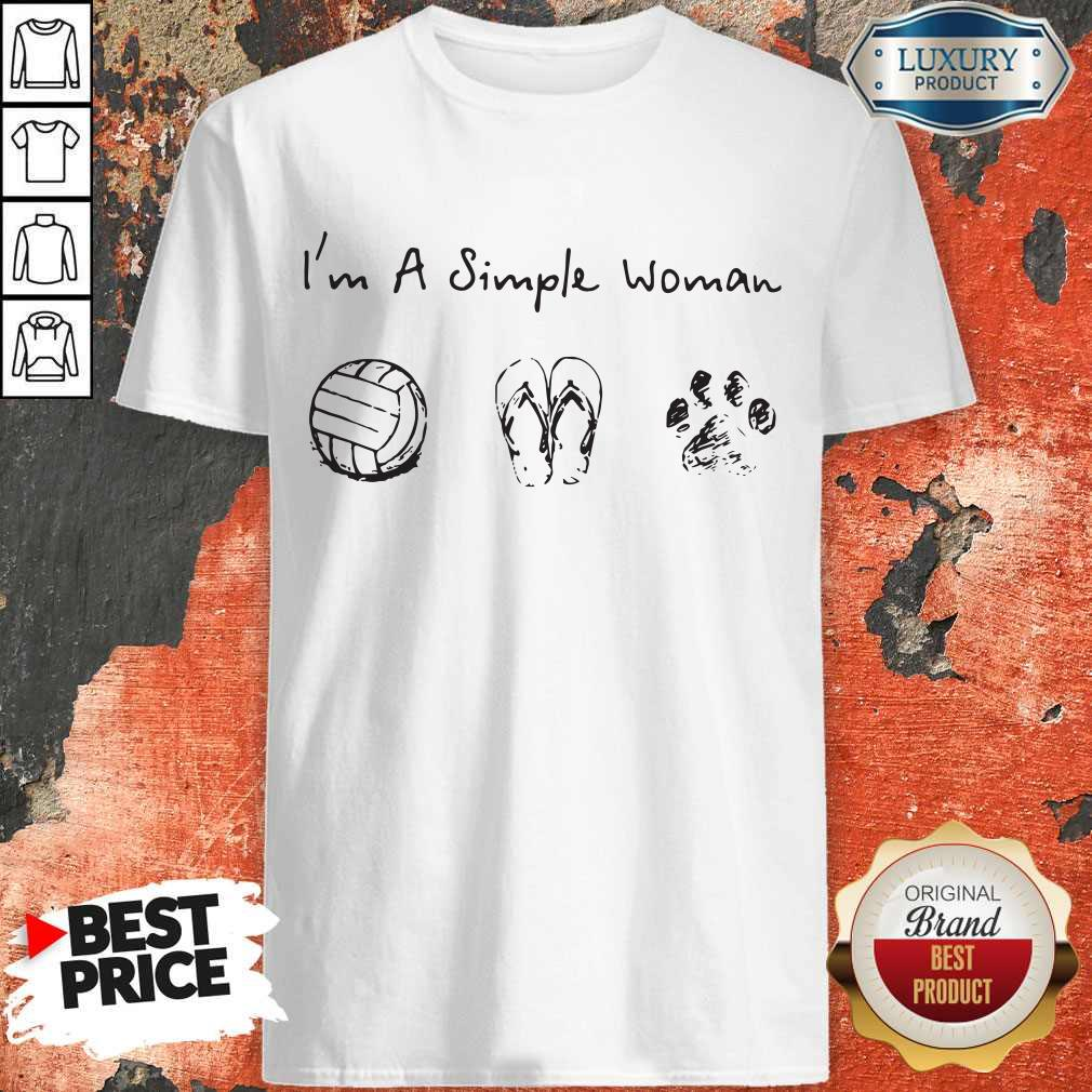 Vip I'm A Simple Woman Volleyball Flip Flop Dog Paw Shirt