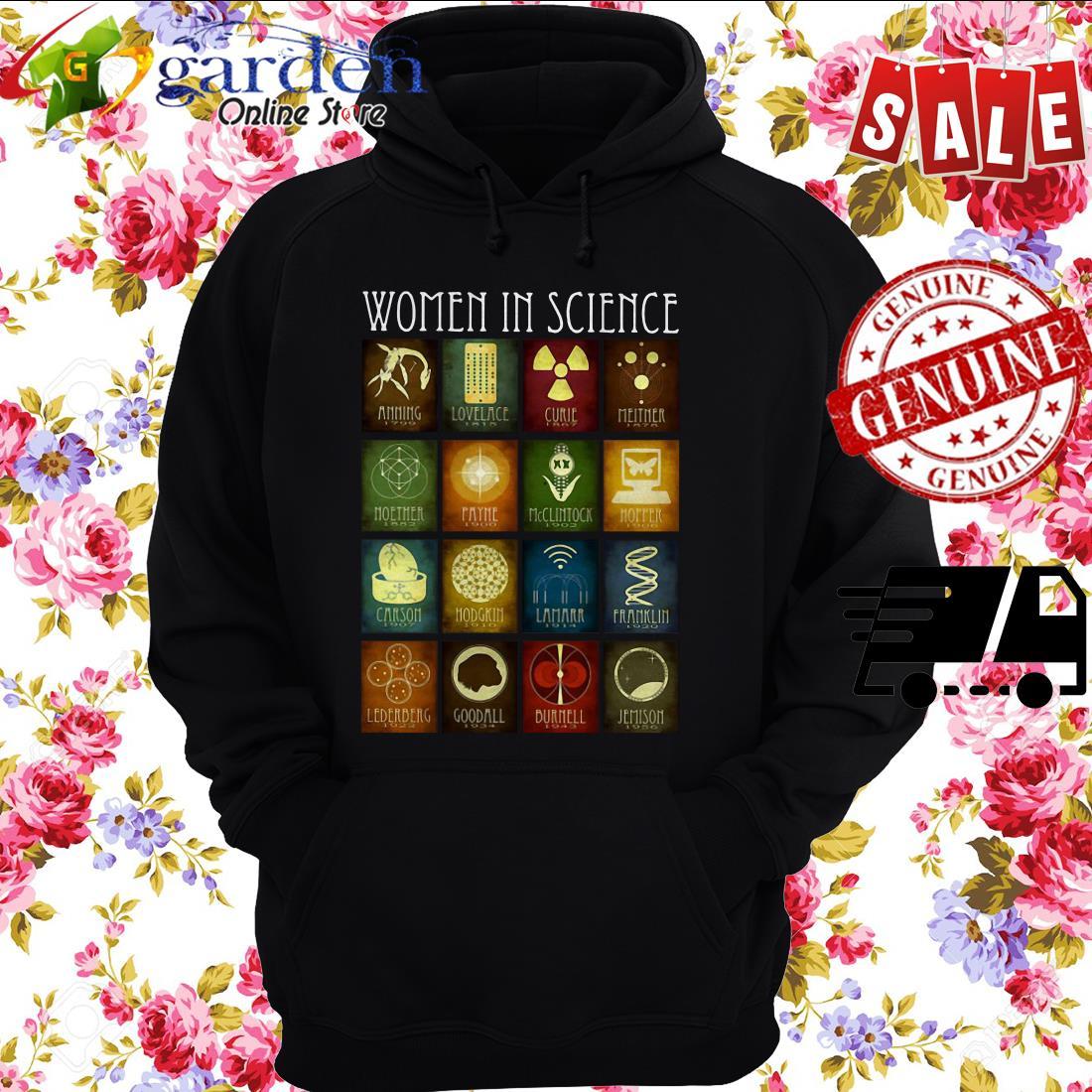 Women In Science Amming Lovelace Curie hoodie