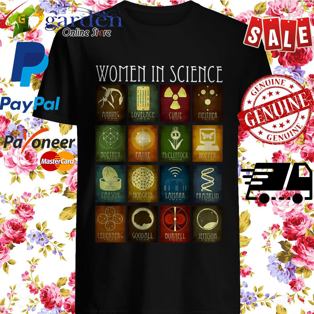 Women In Science Amming Lovelace Curie Shirt