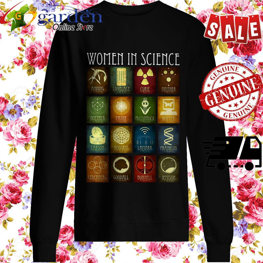 Women In Science Amming Lovelace Curie sweater