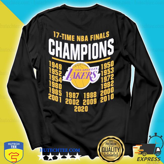 17 time nba finals champions los angeles lakers s longsleeve