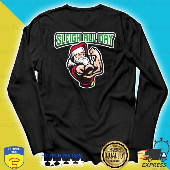 2020 santa strong slay all day buffet ugly christmas sweater longsleeve
