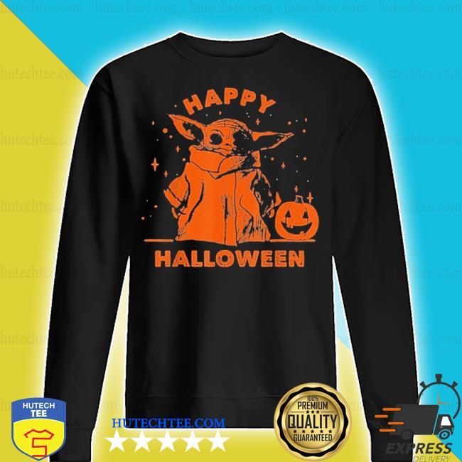 Baby yoda star wars the mandalorian the child happy halloween s sweater