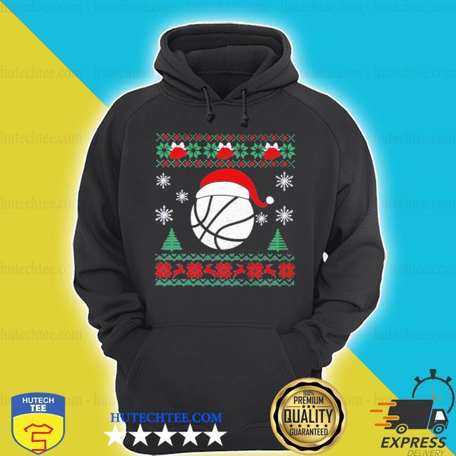 Basketball santa ugly christmas s hoodie