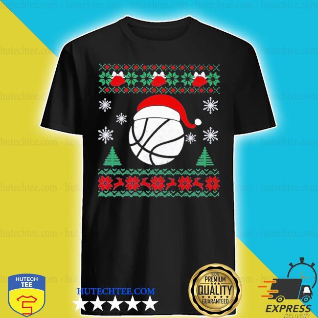 Basketball santa ugly christmas shirt