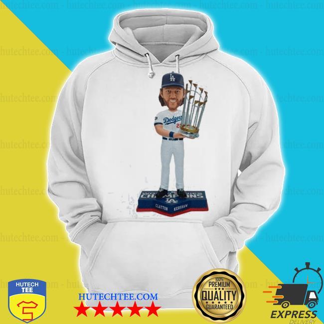 Clayton kershaw los angeles dodgers 2020 world series champions mlb s hoodie