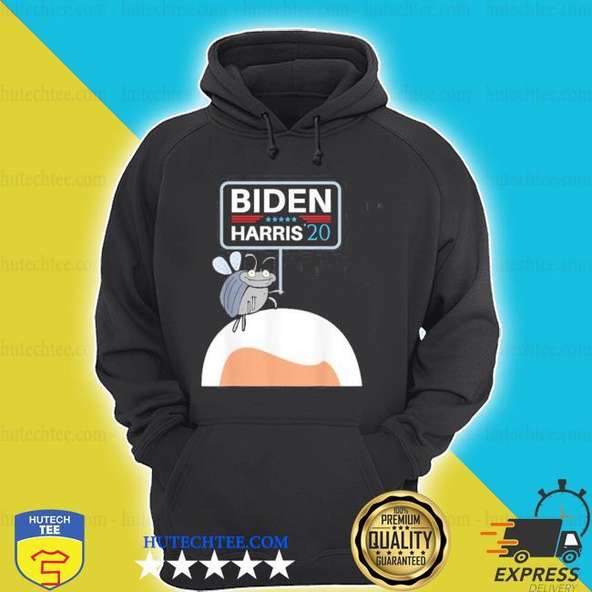 Debate fly on mike pence's head for biden harris 2020 shirt