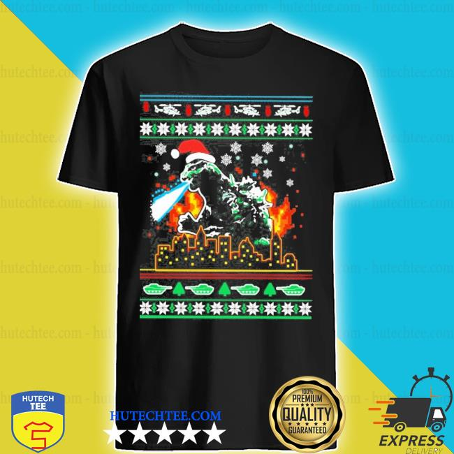 Godzilla ugly christmas shirt