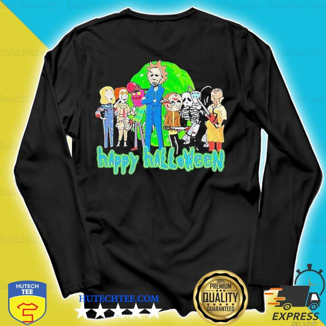Horror character style rick and morty happy halloween s longsleeve