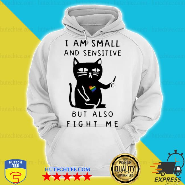 I am small and sensitive but also fight me lgbt cat s hoodie