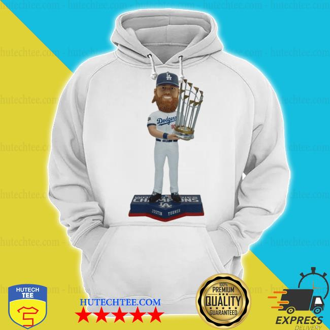 Justin turner member los angeles dodgers 2020 world series champions bobblehead s hoodie