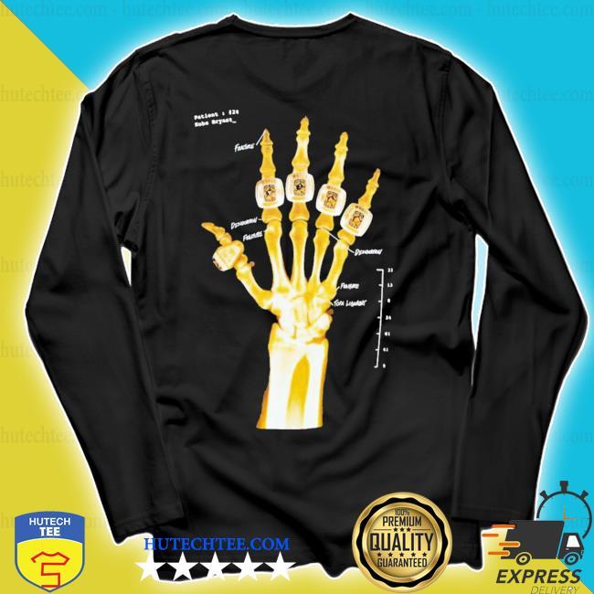 Kobe bryant hand gold rings x-ray s longsleeve