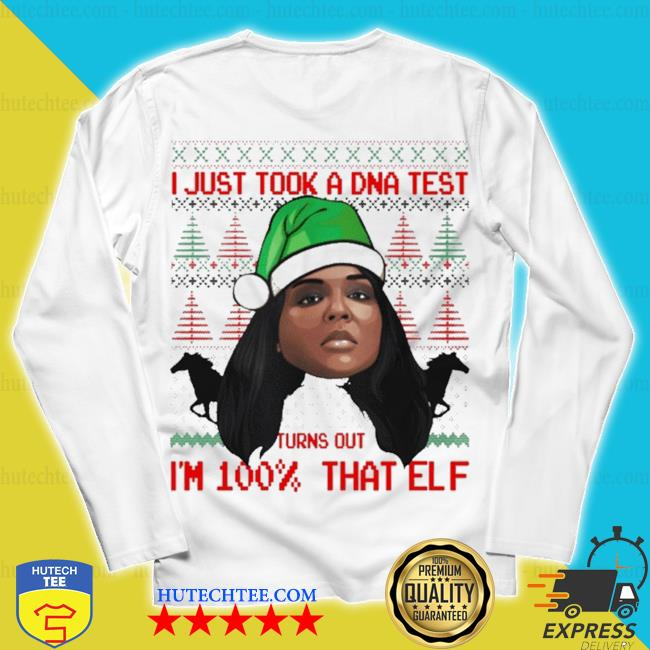 Lizzo 100 percent that elf ugly christmas s unisex longsleeve
