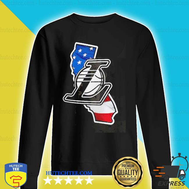 Los angeles lakers american flag s sweater