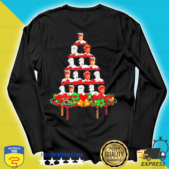 Lucille ball christmas tree ugly christmas sweater longsleeve