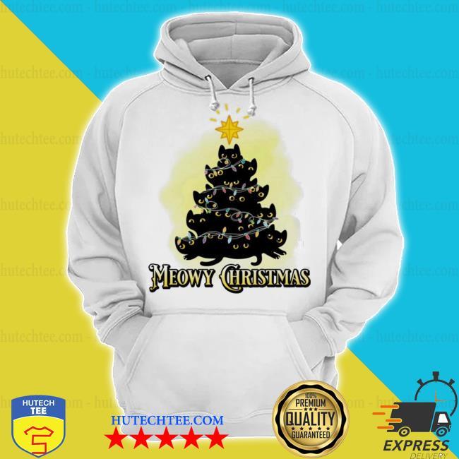 Meowy Christmas Cats tree ugly christmas sweater hoodie