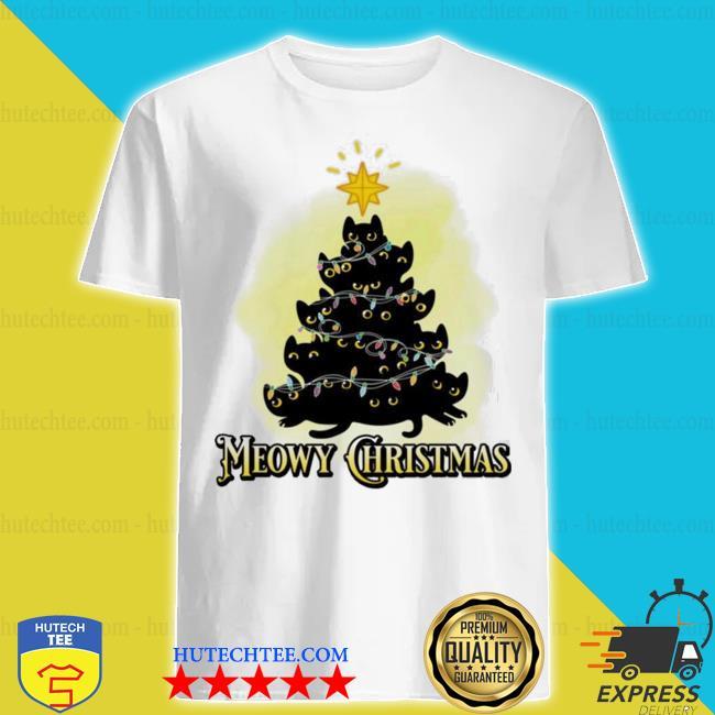 Meowy Christmas Cats tree ugly christmas sweater