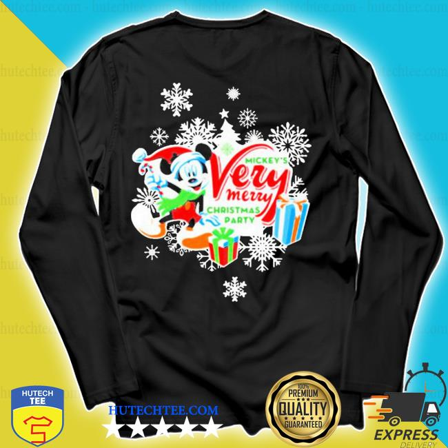 Mickey very merry christmas party 2021 ugly sweater longsleeve